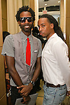 John Thompson II and Lawrence pose at the Domenico Vacca Denim Launch Party presented by Models International on July 14, 2010.