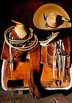 Mexican Charro Saddle and Sombero at San Miguel de Allende, Mexico