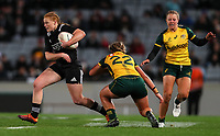 Grace Brooker in action during the International Women's Rugby match between the New Zealand All Blacks and Australia Wallabies at Eden Park in Auckland, New Zealand on Saturday, 17 August 2019. Photo: Simon Watts / lintottphoto.co.nz