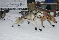 Jr. Iditarod Willow Lake  start / finish Micah Degerlund