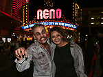 Todd and Linda during the Zombie Crawl held on Saturday night, October 26, 2019 in downtown Reno.