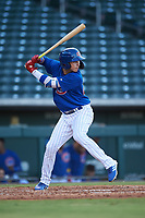 AZL Cubs 1 Carlos Pacheco (29) at bat during an Arizona League game against the AZL Giants Orange on July 10, 2019 at Sloan Park in Mesa, Arizona. The AZL Giants Orange defeated the AZL Cubs 1 13-8. (Zachary Lucy/Four Seam Images)