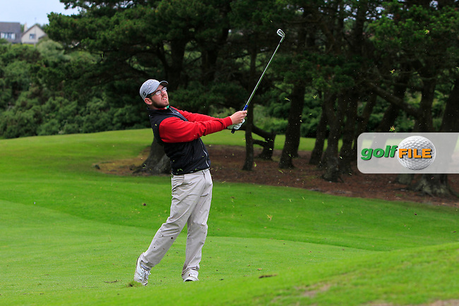 Cameron Raymond (Newlands) on the 8th fairway during Round 3 of the 2016 Connacht U18 Boys Open, played at Galway Golf Club, Galway, Galway, Ireland. 07/07/2016. <br /> Picture: Thos Caffrey | Golffile<br /> <br /> All photos usage must carry mandatory copyright credit   (&copy; Golffile | Thos Caffrey)