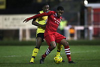Theo Fairweather-Johnson of Hornchurch during AFC Hornchurch vs Great Wakering Rovers, BBC Essex Senior Cup Football at Hornchurch Stadium on 4th December 2018