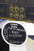 sign on tank ruby reserva ferreira port lodge vila nova de gaia porto portugal
