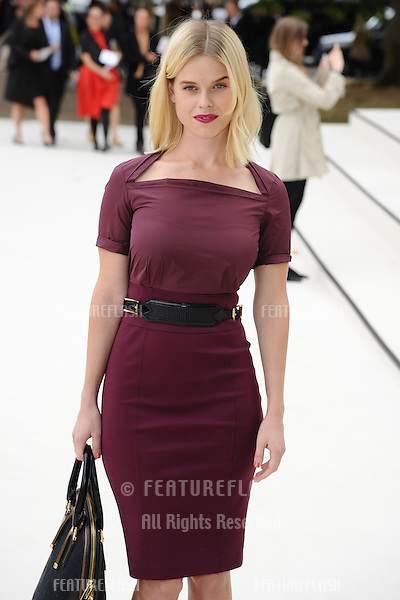 Alice Eve arriving for the Burberry Prorsum catwalk show as part of London Fashion Week SS13, Kensington Gardens, London. 17/09/2012 Picture by: Steve Vas / Featureflash