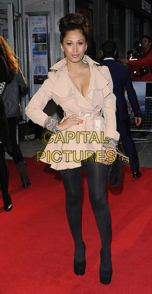 Preeya Kalidas.The 'Midnight's Children' official screening, the 56th BFI London Film Festival day 5, Odeon West End cinema, Leicester Square, London, England..October 14th, 2012.full length black tights beige mac nude cream hand on hip.CAP/CAN.©Can Nguyen/Capital Pictures.