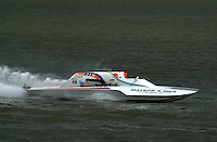"Cal Phipps, GNH-41 ""National Debt"", Grand National Hydroplane.Rising Sun Regatta, Ohio River, Rising Sun, IN, USA 8-9 September,2001.Copyright©F.Peirce Williams 2001..F. Peirce Williams .photography.P.O.Box 455  Eaton, OH 45320 USA.p: 317.358.7326  e: fpwp@mac.com"
