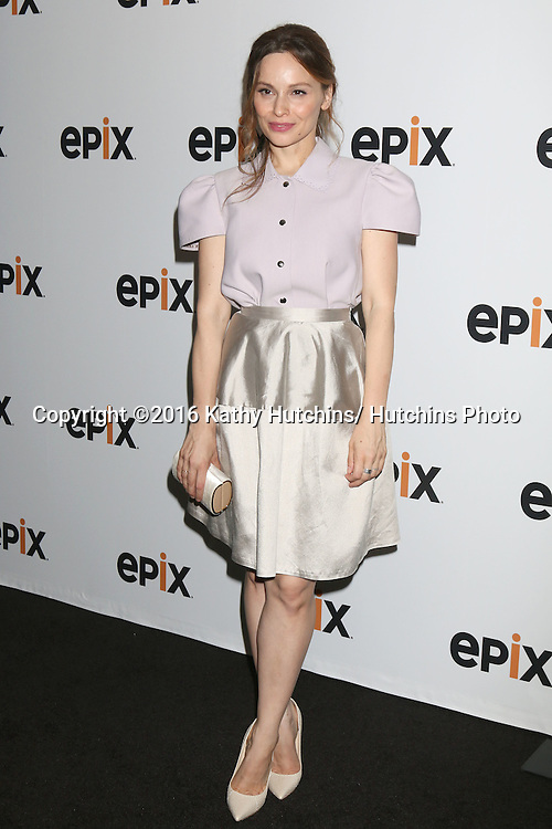 LOS ANGELES - JUL 30:  Mina Tander at the EPIX Television Critics Association Tour Photo Line at the Beverly Hilton Hotel on July 30, 2016 in Beverly Hills, CA