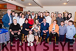 CHRISTENING CELEBRATION: Baby Theodore Oliver Scannell, pictured with his parents Kayleigh and Denis (seated centre) and family and friends at his christening celebrations in The Manor Inn, Killorglin on Saturday.