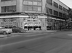 Pittsburgh PA:  View of East Liberty Motors on Baum Boulevard.  The company was owned by Babe Aronson and Mel Cummings.