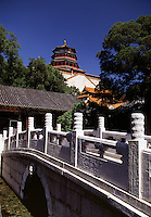 Bridge to the Temple of Buddhist Wisdom at the Summer Palace Beijing China.