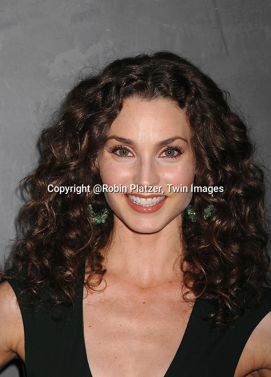 Alicia Minshew in Ungaro dress and Zanotti shoes..at The Surprise 70th Birthday Party for Susan Lucci's husband Helmet Huber on October 10, 2007 at The Rainbow Room ....Photo by Robin Platzer, Twin images....212-935-0770