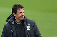 Manager Chris Coleman stands on the pitch during the Wales Training Session at The Vale Resort, Wales, UK. 06 November 2017