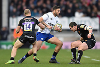 Matt Banahan of Bath Rugby in possession. Aviva Premiership match, between Exeter Chiefs and Bath Rugby on December 2, 2017 at Sandy Park in Exeter, England. Photo by: Patrick Khachfe / Onside Images