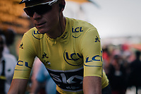 yellow Chris Froome (GBR/SKY)<br /> <br /> 104th Tour de France 2017<br /> Stage 16 - Le Puy-en-Velay &rsaquo; Romans-sur-Is&egrave;re (165km)