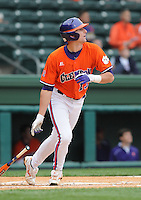 May 11, 2009: Shortstop Brad Miller (13) of the Clemson Tigers in a game against the Furman Paladins at Fluor Field at the West End in Greenville, S.C. Photo by: Tom Priddy/Four Seam Images