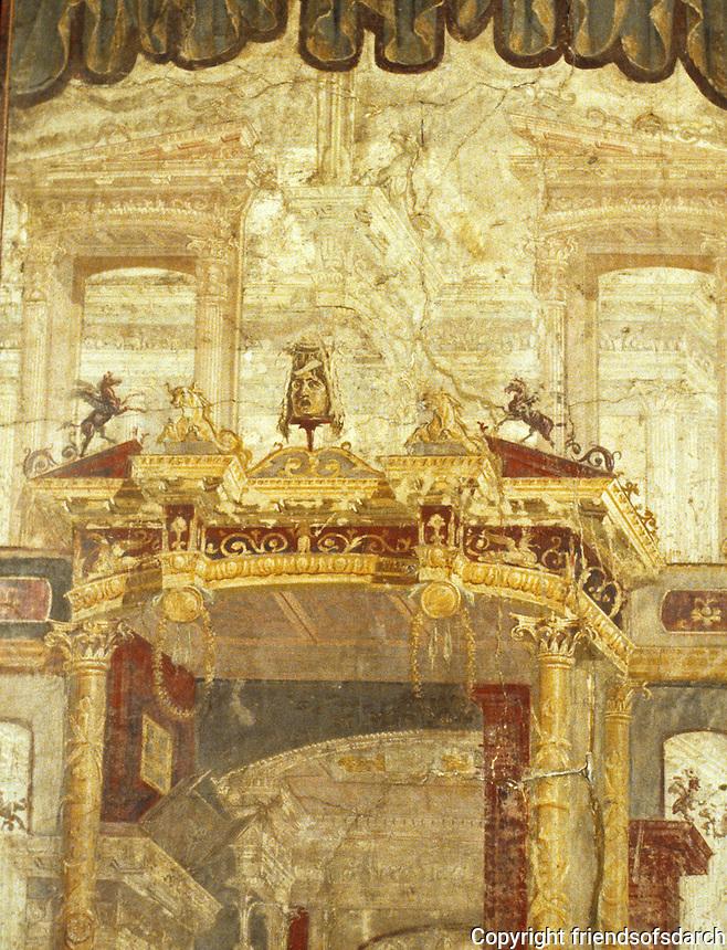 Italy: Herculaneum (Nat. Mus.) Wall Painting. Photo '83.