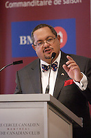 Montreal (Qc) CANADA - February 1st 2011 - THE HONOURABLE ARTHUR T. PORTER, P.C. MD, DIRECTOR GENERAL AND CHIEF EXECUTIVE OFFICER OF THE MCGILL UNIVERSITY HEALTH CENTRE, SPEAKS BEFORE THE CANADIAN CLUB OF MONTREAL