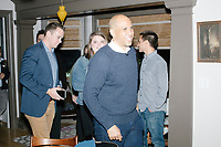Democratic presidential candidate Senator Cory Booker (D-NJ) leaves after speaking at a house party at the home of State Senator Shannon Chandley and Tom Silva in Amherst, New Hampshire, USA, on Sat., Apr. 6, 2019.