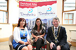 "Chairperson of Drogheda Economic Forum, Patricia Rooney, Caoimhe Mulroy of ""Once Upon Design"" and Mayor Michael O'Dowd at the Launch of the new Brand for Drogheda Economic Forum....Photo NEWSFILE/Jenny Matthews.(Photo credit should read Jenny Matthews/NEWSFILE)....This Picture has been sent you under the condtions enclosed by:.Newsfile Ltd..The Studio,.Millmount Abbey,.Drogheda,.Co Meath..Ireland..Tel: +353(0)41-9871240.Fax: +353(0)41-9871260.GSM: +353(0)86-2500958.email: pictures@newsfile.ie.www.newsfile.ie.FTP: 193.120.102.198."