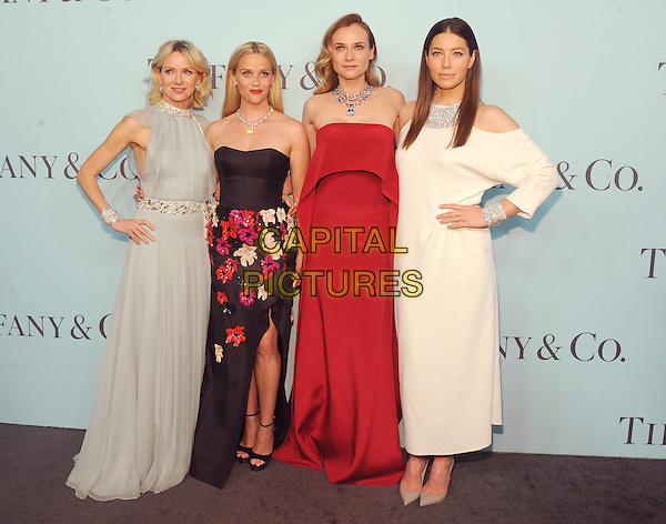New York, New York- April 15: Naomi Watts, Reese Whiterspoon, Diane Kruger and Jessica Biel  attends the Tiffany &amp; Co 2016 Blue Book event at the Cunard Building on April 15, 2016 in New York City.  <br /> CAP/MPI/STV<br /> &copy;STV/MPI/Capital Pictures