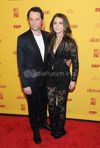 NEW YORK, NY - FEBRUARY 25: Actors Matthew Rhys (L) and Keri Russell attend 'The Americans' season 5 premiere at DGA Theater on February 25, 2017 in New York City.  Photo by: John Palmer/ MediaPunch