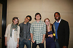 Guiding Light's Bonnie Dennison, EJ Bonilla, Zack Conroy, Caitlin Van Zandt & Lawrence Saint-Victor congratulate EJ Bonilla (C) (Younger Actor Emmy Nominee) at the 36h Annual Daytime Entertainment Emmy® Awards Nomination Party - Sponsored By: Good Housekeeping and The National Academy of Television Arts & Sciences (NATAS) on Thursday, May 14, 2009 at Hearst Tower, New York City, New York (Photo by Sue Coflin/Max Photos)..