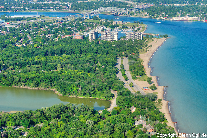 Aerials of Sarnia, Brights Grove, Corunna, Stage Island.