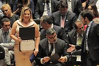 SÃO PAULO,SP,18.12.2018 - DIPLOMAÇÃO-SP - Joice Hasselmann durante cerimonia de diplomação dos candidatos eleitos para assumir o cargo em janeiro 2019. A cerimonia foi realizada na sala Sao Paulo nesta terça-feira, 18. (Foto Dorival Rosa/Brazil Photo Press)