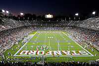 16 September 2006: The stadium during Stanford's 37-9 loss to Navy during the grand opening of the new Stanford Stadium in Stanford, CA.
