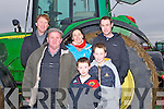 ARRIVED: Arrived at the Abbeydorney ploughing competition on Sunday in Abbeydorney, Front l-r: Harry Lucid (Crotta), Darragh Mckenna-Conway and Shane Conway (Lixnaw). Back l-r: Arthur and Fiona Spring(Tralee) and Michael Conway(Lixnaw)........... . ............................... ..........