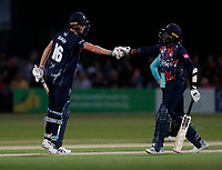 Kent openers Zak Crawley (L) and Daniel Bell-Drummond share an opening stand of hundred during Kent Spitfires vs Surrey, Vitality Blast T20 Cricket at the St Lawrence Ground on 23rd August 2019