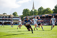 Semesa Rokoduguni of Bath Rugby runs in his first try of the match. Aviva Premiership match, between Bath Rugby and Saracens on September 9, 2017 at the Recreation Ground in Bath, England. Photo by: Patrick Khachfe / Onside Images