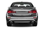 Straight rear view of 2016 Infiniti Q70 Premium 4 Door Sedan Rear View  stock images