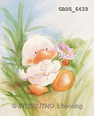 Ron, CUTE ANIMALS, Quacker, paintings, duck, flower(GBSG6439,#AC#) Enten, patos, illustrations, pinturas