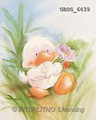 Ron, CUTE ANIMALS, Quacker, paintings, duck, flower(GBSG6439,#AC#) Enten, patos, illustrations, pinturas