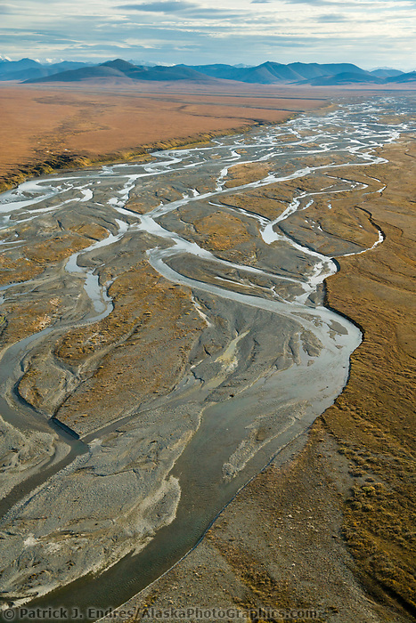 River draining out of the Brooks Mountain range in the Arctic National Wildlife Refuge, Alaska.