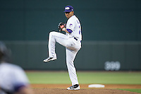 Winston-Salem Dash relief pitcher Kelvis Valerio (26) in action against the Frederick Keys at BB&T Ballpark on May 24, 2016 in Winston-Salem, North Carolina.  The Keys defeated the Dash 7-1.  (Brian Westerholt/Four Seam Images)