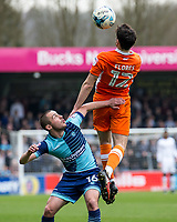 Michael Harriman of Wycombe Wanderers during the Sky Bet League 2 match between Wycombe Wanderers and Blackpool at Adams Park, High Wycombe, England on the 11th March 2017. Photo by Liam McAvoy.