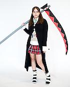Kristen Reason, of Wilmington, N.C., dressed as Maka Albarn of Soul Eater