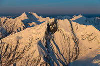Mount Brooks (foreground) and mount mather in the background, Alaska Range, Denali National Park, Interior, Alaska.