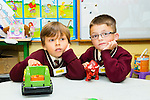 New arrival Franek and Ockar settling into Junior Infants at Holy Family Primary School on Monday