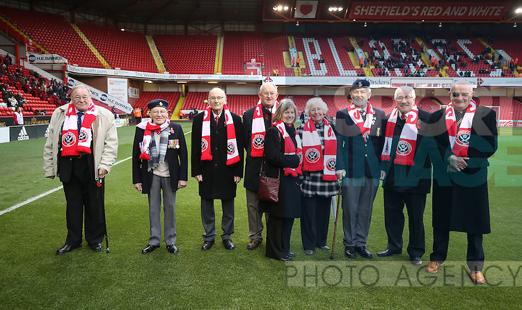 War veterans during the Emirates FA Cup Round One match at Bramall Lane Stadium, Sheffield. Picture date: November 6th, 2016. Pic Simon Bellis/Sportimage