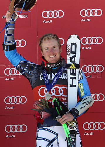 06.12.2011. Beaver Creek, USA. Ski Alpine FIS World Cup Giant slalom the men Award Ceremony Picture shows Ted Ligety USA