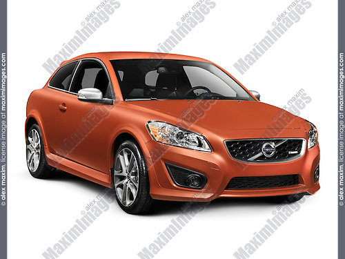 2011 Volvo C30 T5 R-Design car isolated on white background with clipping path