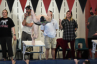 Bentonville senior Ryan Husband swims in the boys 100 yard butterfly, Thursday, February 13, 2020 during the 6A-West Conference swim meet at the Jones Center in Springdale. Check out nwaonline.com/200214Daily/ for today's photo gallery.<br /> (NWA Democrat-Gazette/Charlie Kaijo)
