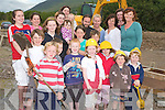 AT LONG LAST: Locals from Camp who have worked tirelessly for years for a community playground are happy work is finally underway. From front l-r were Darcy Ryan, Luke McNamara, Lenny McGaley, Eibhoinn Connell, Zara Chambers, Sadhbh Hanley and Aobh Connell. Middle row l-r were: Dvid Ryan, Ailbhe Connell, Laoise Coakley and Mark Fitzgerald. Back l-r were: Sarah Fitzgerald, Charlie McBurney, Mary and Kayla Chambers, Una and Oscar Hanley, Muirt Hanley, Ann Connell, Jill Fitzgerald, Tara Chambers and Frances McGaley.