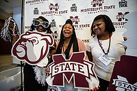 Incoming freshman Tierney Richey and her family members Verkisserous Richey and Latausha Lay take a break during the orientation sessions inside the Colvard Student Union.<br />  <br /> (photo by Logan Kirkland / &copy; Mississippi State University)