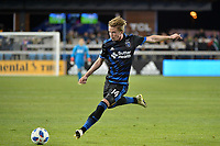 San Jose, CA - Saturday March 24, 2018: Jackson Yueill during an international friendly between the San Jose Earthquakes and Club Leon FC at Avaya Stadium.